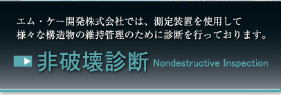 非破壊診断 Nondextructive Inspecition